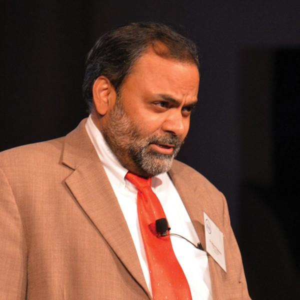 Satyam Priyadarshy, chief data scientist, Halliburton, speaking at the symposium.